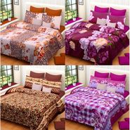 Set of 4 Printed  Double Bedhseets With 8 Pillow Covers-IWS-NPrinted-50