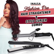 Inalsa Fashion Pro Hair Straightener & Stylo Curler Combo