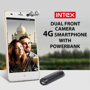 Intex Dual Camera 4G Smartphone With Powerbank