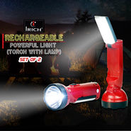 Irich Rechargeable Powerful Light (Torch with Lamp) - Set of 2