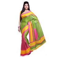 Ishin Bhagalpuri Silk Saree - Multicolor