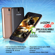 Ivoomi 4G Gorilla Glass Mobile with Quick Charge