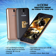 Ivoomi Shatter Proof Big Screen 4G Phone (V5)