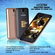 Ivoomi Shatter Proof Big Screen 4G Phone (V5)