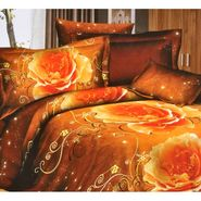 4D Printed  Double Bed Sheet With 2 Pillow Cover- JF-010