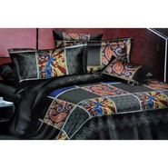 4D Printed  Double Bed Sheet With 2 Pillow Cover- JF-019