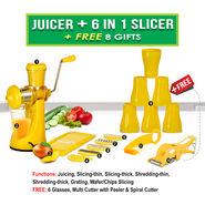 Juicer + 6 in 1 Slicer + Free 8 Gifts NT4
