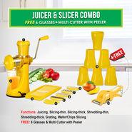 Juicer & Slicer Combo + 6 Glasses + Multi Cutter with Peeler NT4