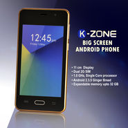 KZone Big Screen Android Phone