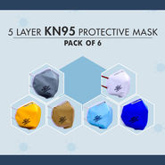 KN95 Pack of 6 - Protective Face Masks (HW4)