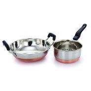 Klassic Vimal Cookware set of Kadai and Sauce pan KV101