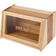 Kvg Wooden Bread Box, Rectangle, Brown