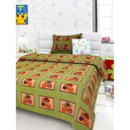 Storyathome 100% Cotton Kids Single Bedsheet with 1 Pillow Cover-KZ1407