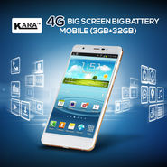 Kara 4G Big Screen Big Battery Mobile (3GB+32GB)