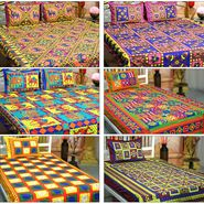 Katha 3 Double & 3 Single Handmade Cotton Bedsheets