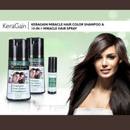 KeraGain Miracle Hair Color Shampoo & 10-in-1 Miracle Hair Spray