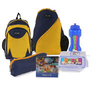 Kids Back To School 43cm Bagpack Combo For Boys Yellow & Blue - CB1403