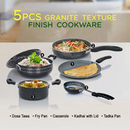 5 Pcs Granite Texture Finish Cookware