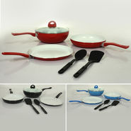 6 Pcs Ceramic Coated Colourful Cookware Set