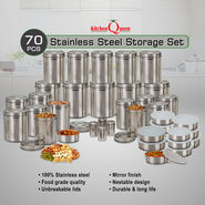 Kitchen Queen 70 Pcs Stainless Steel Storage Set