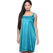 Klamotten Satin Plain Nightwear - Turquoise - YY62