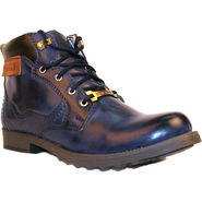 Kohinoor Faux Leather Boots - Blue