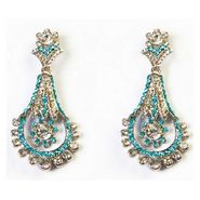 Kriaa Austrian Stone Earrings - Blue _ 1302313