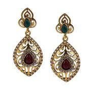 Kriaa Antique Gold Pearl Earrings - Multicolour _ 1304922