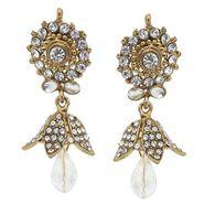 Kriaa Austrian Stone Earrings - White _ 1300701