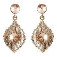 Kriaa Austrian Stone Earrings - Brown _ 1301416