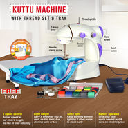 Kuttu Machine with Thread Set & Tray