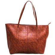 Sai Arisha PU Brown Tote Handbags -LB324