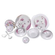 Set of 32 Choice Melamine Dinner Set - Multicolor LE-CH-006