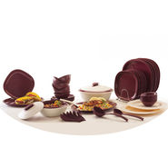 Signoraware Dinner Set 46 Pcs With Double Wall Casserole_LE-SIGN-278