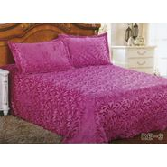 Velvet Double Bedsheet With 2 Pillow Cover-LE-VELV-006