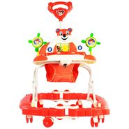 Baby Walker N Rocker Musical with Tray - Red