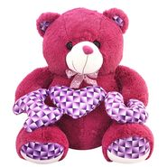Valentine Stuff ILU Teddy Bear 50 cm - Purple