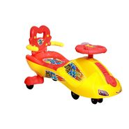 Kids Swing Car with Back and Music Red
