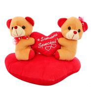 Heart Sofa Couple Valentine Stuff Teddy - Brown