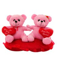 Heart In Hand Couple Valentine Stuff Teddy - Pink