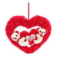 Couple onHeart Valentine Stuff Teddy - White