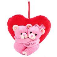 Hug WithHeart Valentine Stuff Teddy - Pink