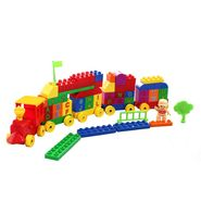 DealBindaas Plastic Train Block With Printed ABC 78 Pcs