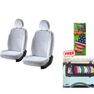 Latest Car Seat Cover for Maruti Suzuki Omni - White