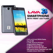 Lava 3G Smartphone with Front LED Flash