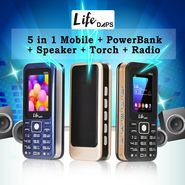 LifeDAPS 5 in 1 - Mobile + PowerBank + Speaker + Torch + Radio