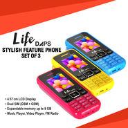 LifeDAPS Stylish Feature Phone Set Of 3