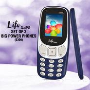 LifeDAPS Set Of 3 Big Power Phones (5300)