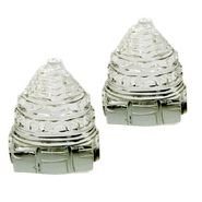 Set of 2 Pure Sphatic Crystal Made Good Luck Shree Yantra 264-DL4COMB264