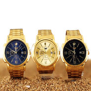 Luxury Gold Watch with Diamond (MGW9)